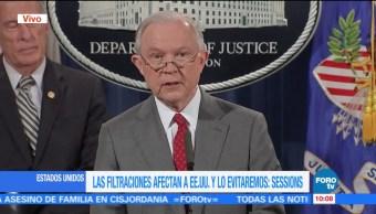 Sessions Combatiremos Filtraciones Informacion Clasificada Fiscal General De Eu Jeff Sessions