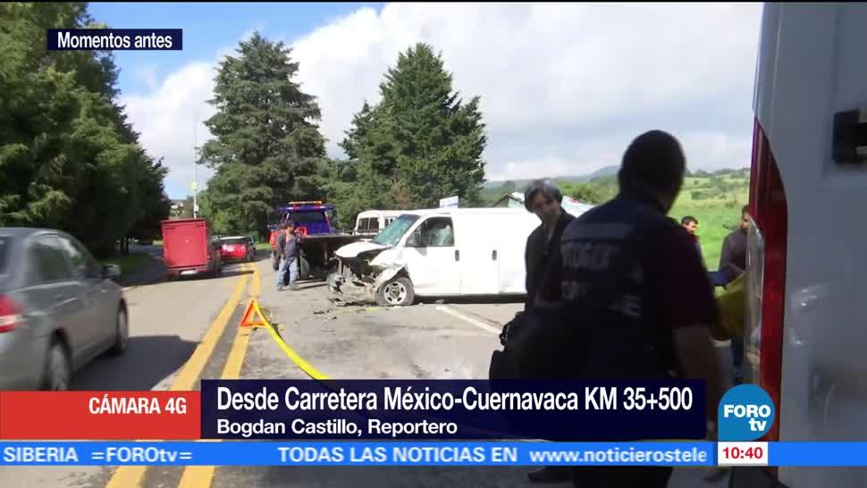 Muere Copiloto Auto Particular Choque Carretera Mexico-Cuernavaca
