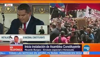 Instalacion Asamblea Constituyente Transcurre Calma Ricardo Burgos Venezuela