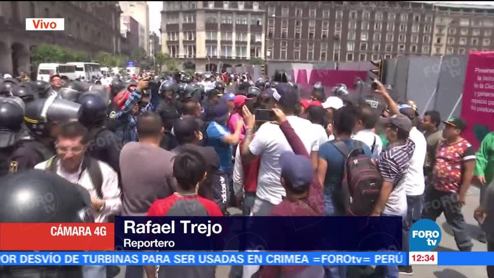 Comerciantes Enfrentan Policias Centro Cdmx