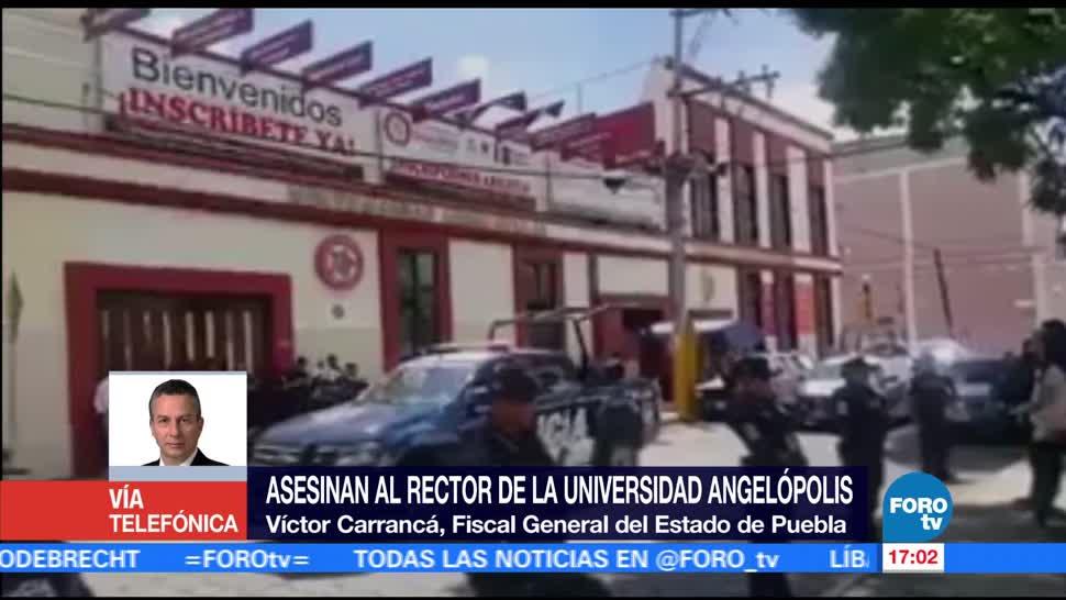 Asesinan al rector una universidad Puebla