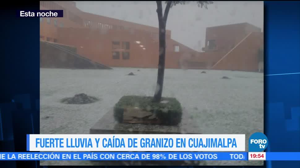 Lluvia y granizo en la zona de Santa Fe