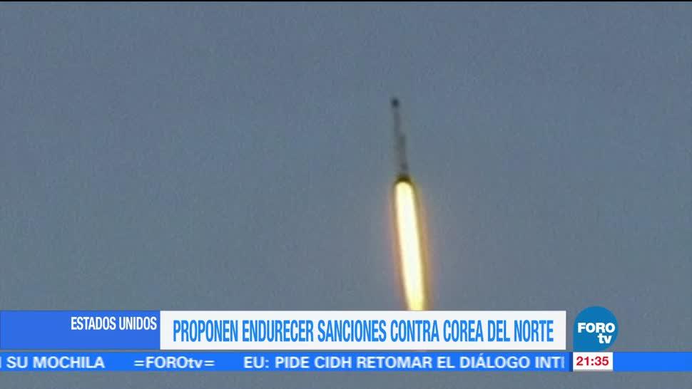 Proponen endurecer sanciones contra Corea del Norte