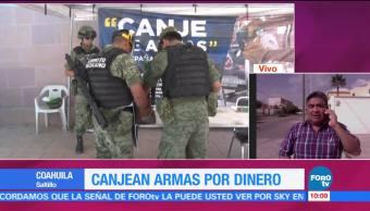 Canjean Armas Dinero Coahuila Programa Saltillo Coahuila