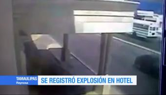 Video Registra Explosion Hotel Reynosa Tamaulipas Momento