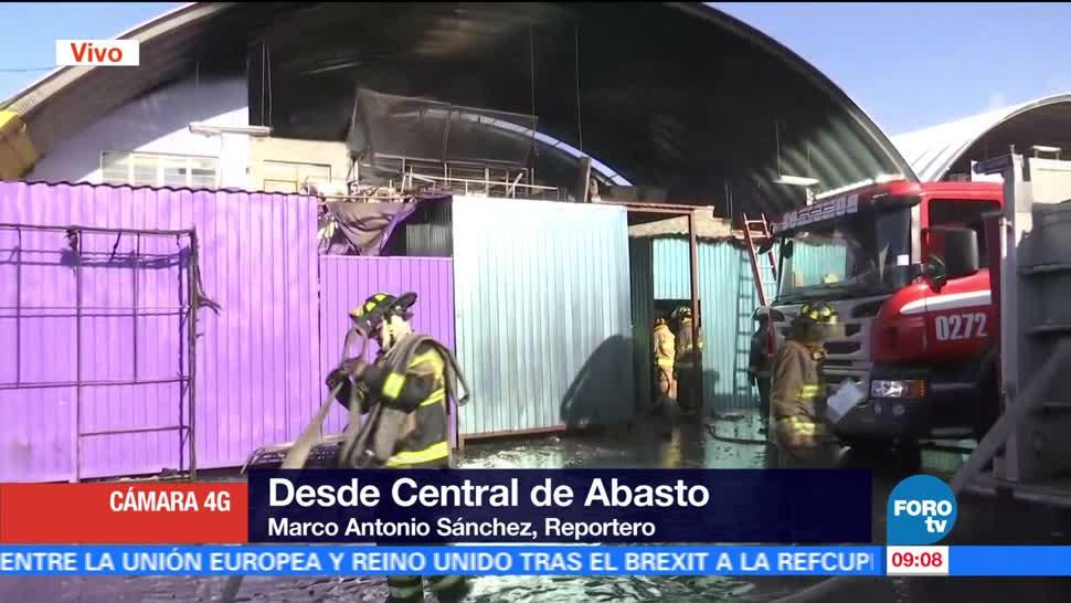 Controlan, incendio, Central de Abasto, CDMX