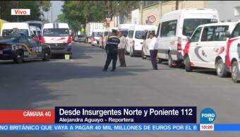 Transportistas Bloquean Insurgentes Norte Poniente 112