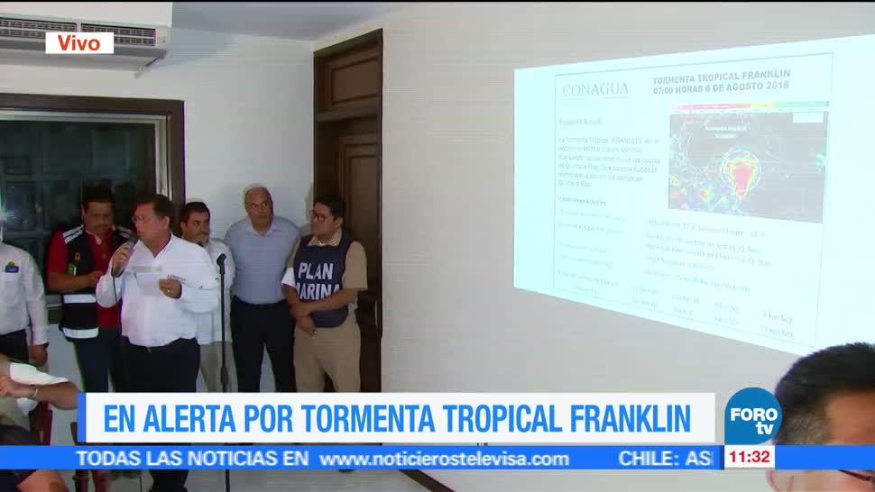 Quintana Roo Prepara Tormenta tropical Franklin