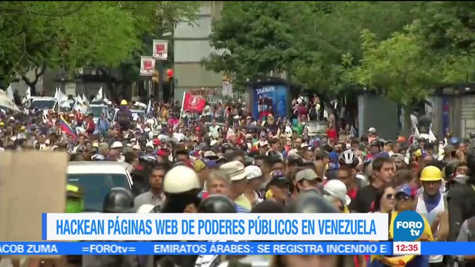 Hackean, páginas, web, Venezuela