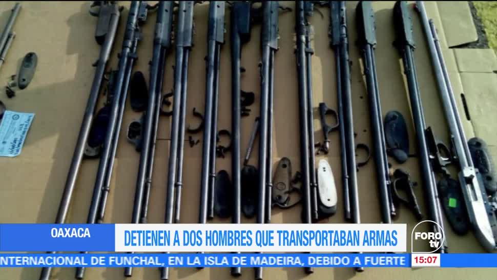 Detienen Transportaban Armas Oaxaca Elementos De La Policia Estatal Texas