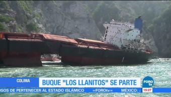 Continua Deterioro Buque Llanitos Colima Encallado En 2015