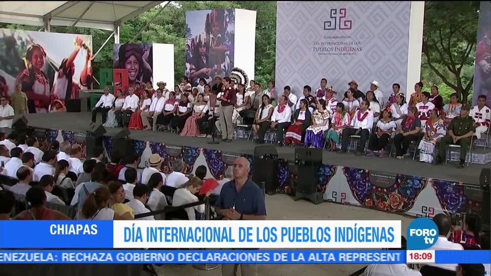 EPN Encabeza Dia Internacional Pueblos Indigenas Chiapa De Corzo Chiapas