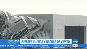 Fuertes Lluvias Rachas Viento NL Aeropuerto Apodaca Monterrey