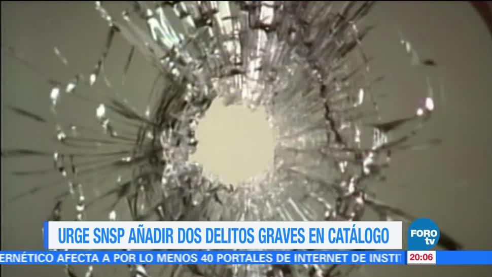 Piden extender catálogo delitos graves México