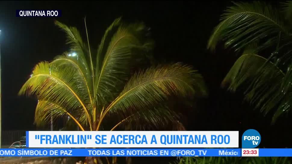 Franklin se acerca a Quintana Roo