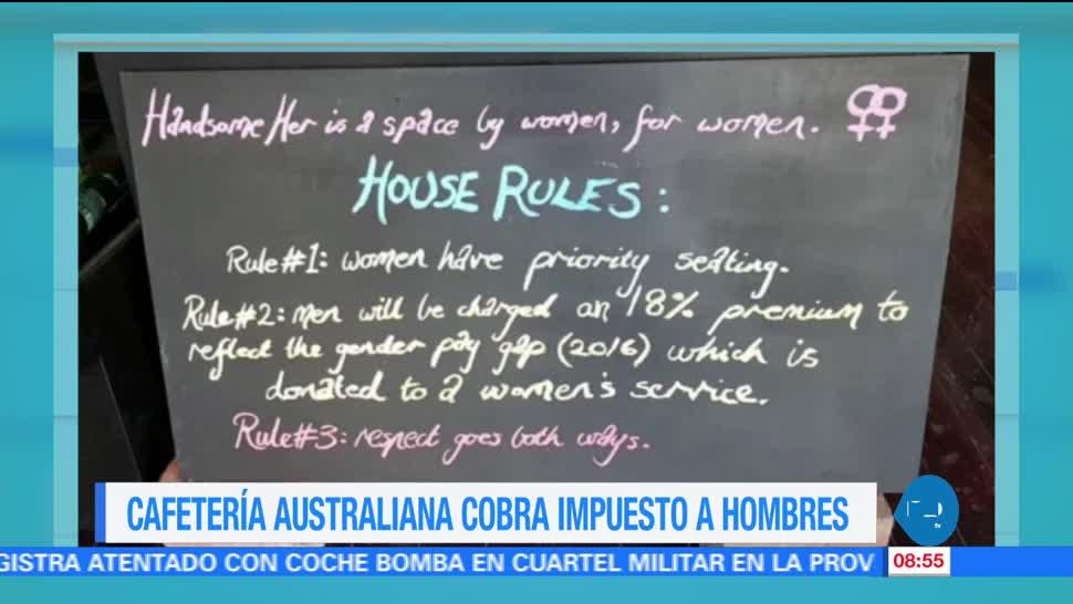Cafetería, australiana, cobra, hombres