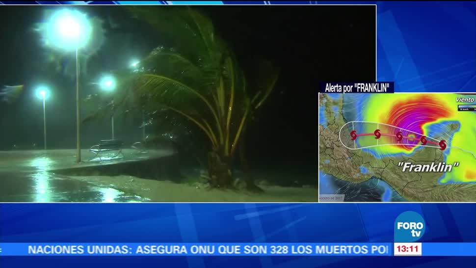 Mahahual recibe las lluvias de la tormenta Franklin