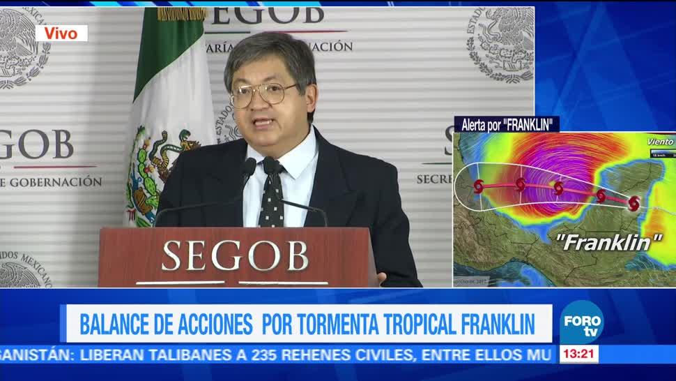 Segundo impacto de 'Franklin' sería más fuerte en Veracruz: Conagua