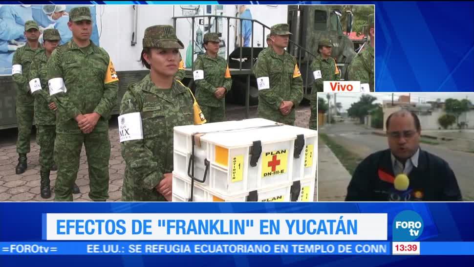 Saldo blanco en Yucatán tras el paso de la tormenta 'Franklin'
