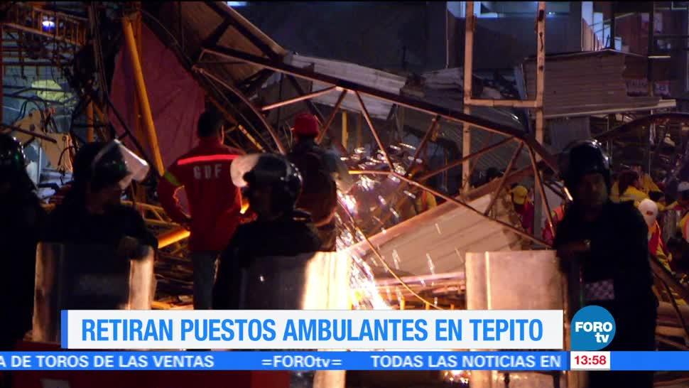 Retiran puestos fijos en Tepito CDMX