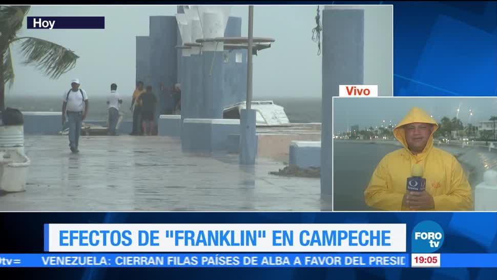 Suspenden actividades aéreas en Campeche por tormenta Franklin