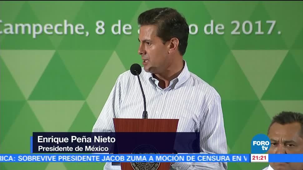 Peña Nieto inaugura drenaje pluvial Campeche