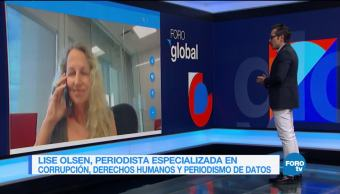 Genaro Lozano entrevista a Lise Olsen