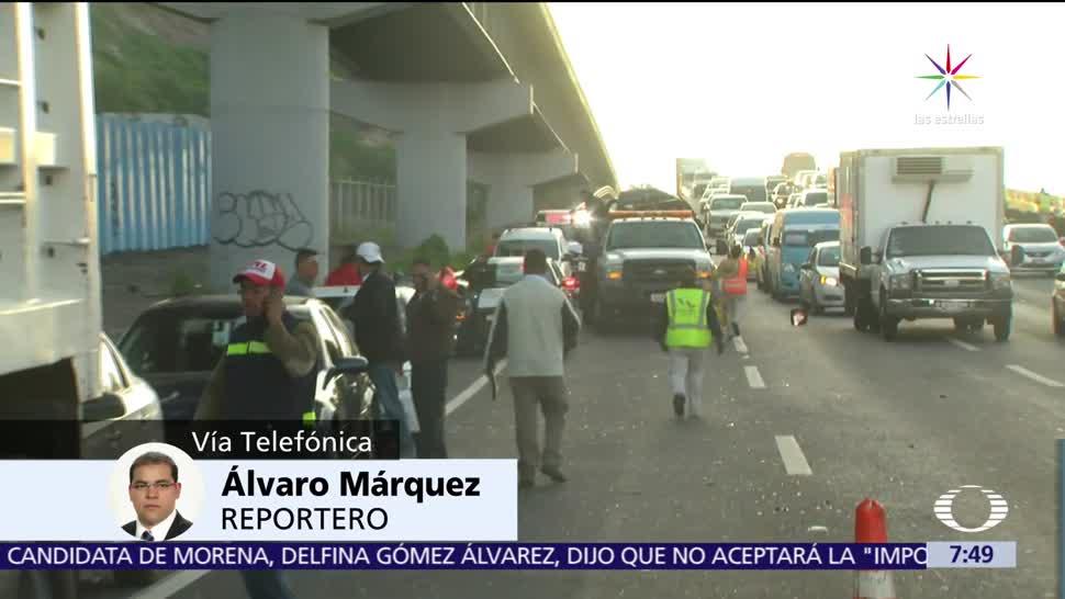 Registran Carambolas Autopista México Puebla