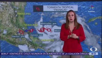 Tormenta, Franklin, costas, Veracruz