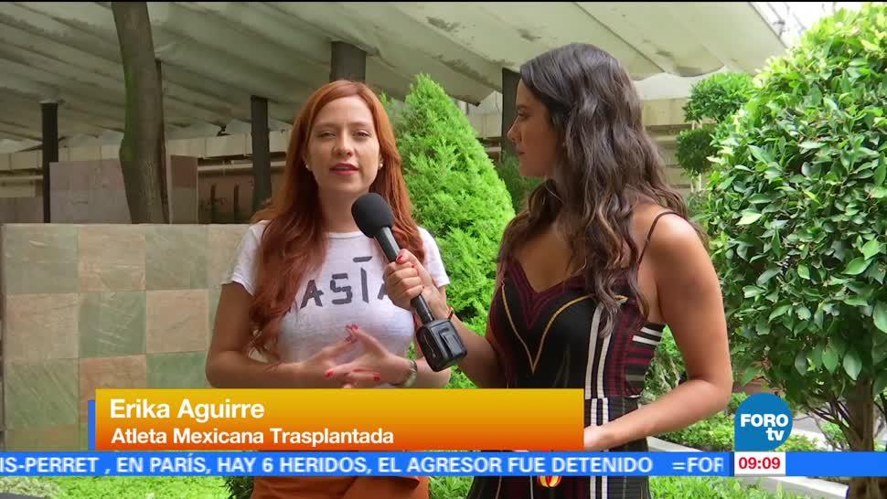 Erika Aguirre, medallista, mexicana, trasplantada