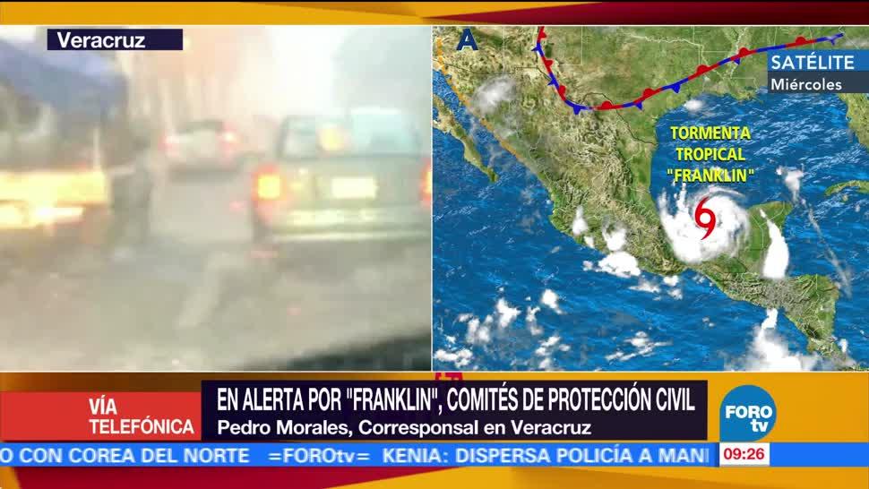 Comités, Protección Civil, Veracruz, Franklin