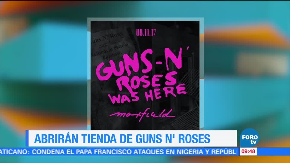 Abrirán, tienda, Guns N' Roses, Los Ángeles