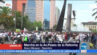 Cerrado, Paseo, Reforma, manifestantes