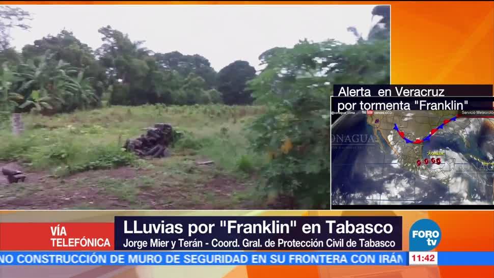 Protección Civil, Tabasco, reporta, Franklin