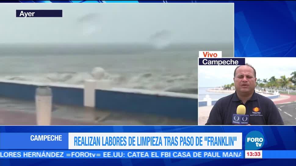 Realizan labores limpieza en Campeche Franklin
