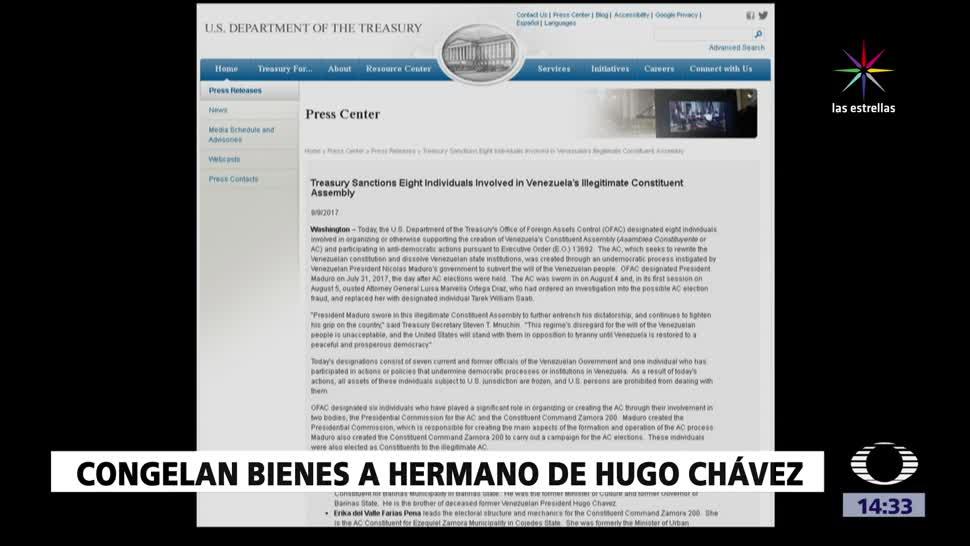 Departamento Tesoro EU sanciona ocho venezolanos