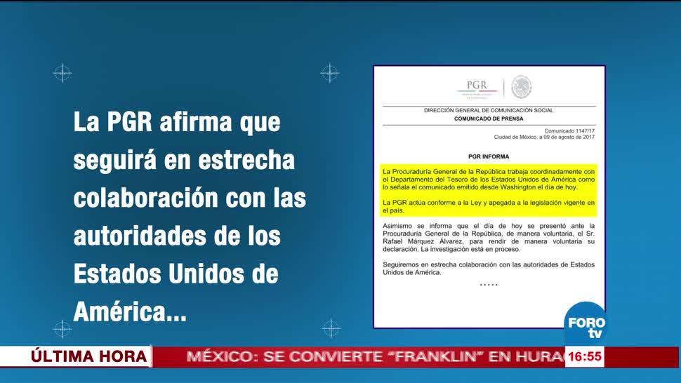 Rafa Márquez rinde declaración ante PGR