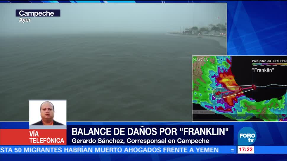 Saldo blanco Campeche tras paso Franklin