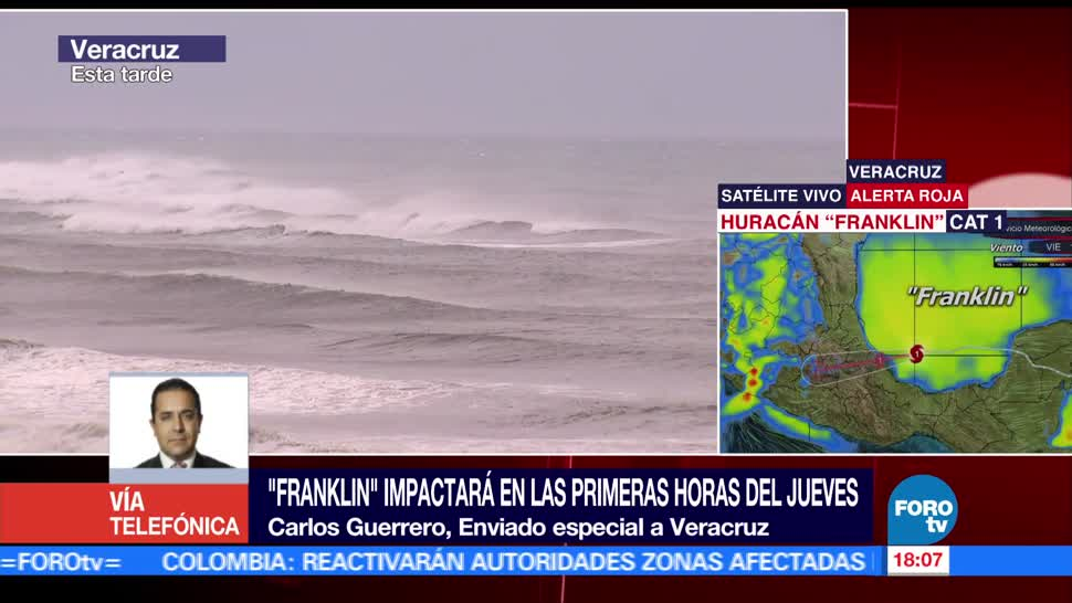Realizan primeras evacuaciones Veracruz arribo Franklin