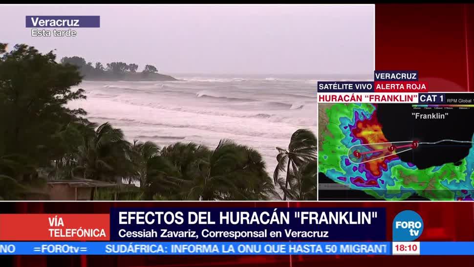 Activan albergues Veracruz ante llegada Franklin