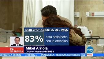 IMSS sube reporte sobre satisfacción derechohabientes