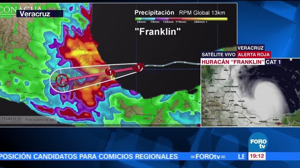 'Franklin' Ya Es Huracán, Hay Alerta Roja En Veracruz
