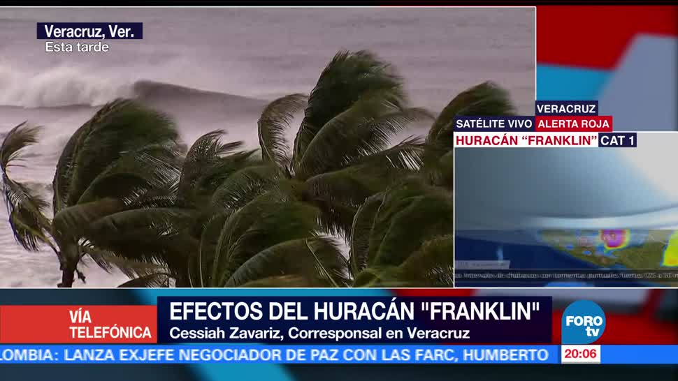 'Franklin' impactará esta noche en Veracruz