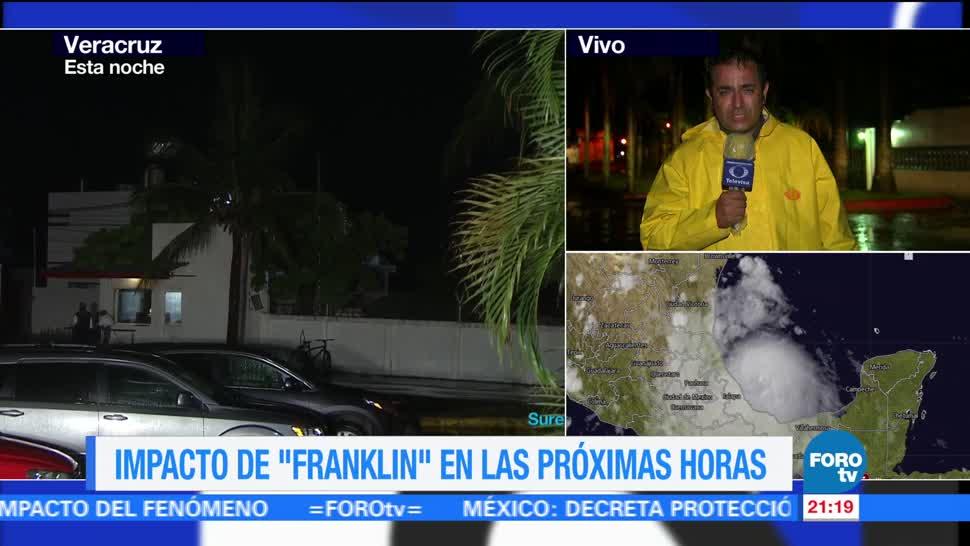 'Franklin' impactará en las próximas horas en Veracruz