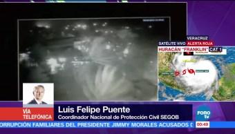 Huracán Franklin toca tierra en Veracruz