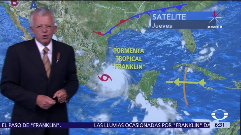 Huracán Franklin Degrada Tormenta tropical