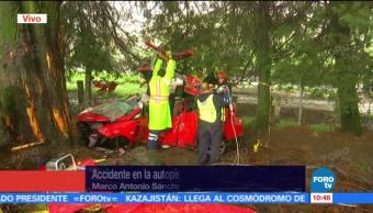 Accidente, autopista, México Cuernavaca, muerto
