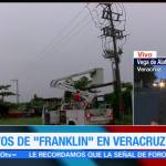 Veracruz se recupera tras el paso de 'Franklin'