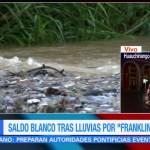 Saldo blanco tras paso de 'Franklin' en Puebla