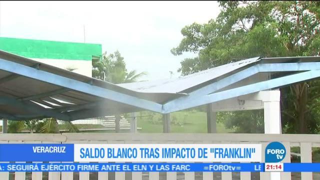 Saldo blanco tras impacto de Franklin en Veracruz